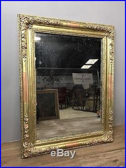 Antique French Mirror, Foxed Glass