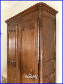 Antique French Oak 19th Century Armoire Wardrobe Linen Press Super Condition