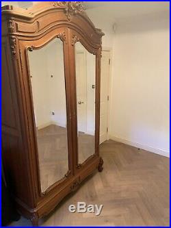 Antique French Oak carved armoire (wardrobe)
