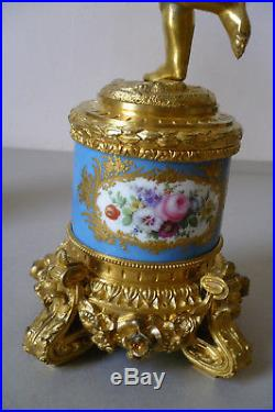 Antique French Ormolu Sevres 19th Century Candelabras. A Pair