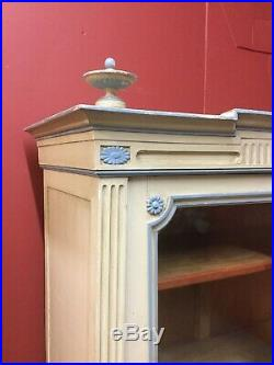 Antique French Painted Glazed Armoire / Bookcase Sn-458b