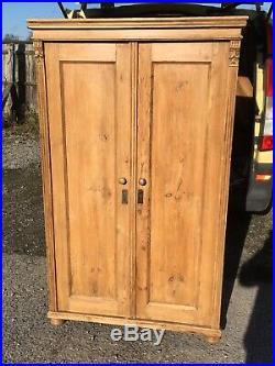 Antique French Pine Armoir/Gentlemans Wardrobe