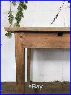Antique French Pine White Washed Farmhouse Table C. 1900