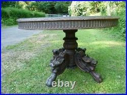 Antique French Renaissance Style,'dragon Legged' Gueridon Table. Antique Table