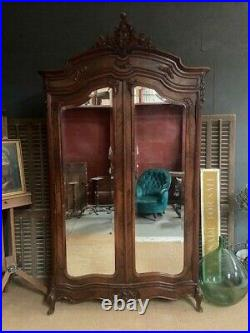 Antique French Rosewood Armoire / French Wardrobe / French Linen Cupboard