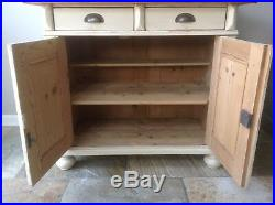 Antique French Style Continental Painted Pine Cream Welsh Dresser Larder Rustic