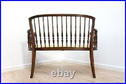 Antique French Vintage Salon Sofa Chaise Hall Seat Bench /1497