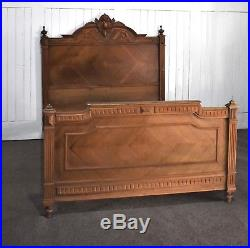 Antique French carved double bed