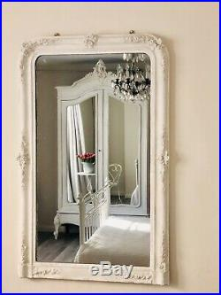 Antique French mirrored double armoire /wardrobe /linen press/cupboard