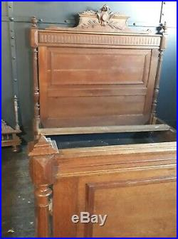 Antique French oak bed