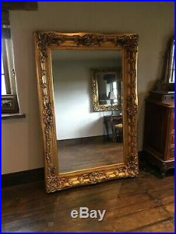 Antique Gold Large Statement Ornate French Dress Leaner Floor Wall Mirror 7ft