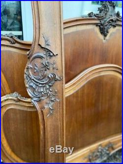 Antique Mahogany French Louis XV Bed