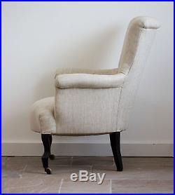 Antique Newly Upholstered French Armchair