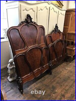 Antique Pair of Single French Louis XV Beds Stunning