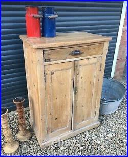 Antique Pine Cupboard Dresser Chiffonier Vintage French Cabinet Kitchen Larder