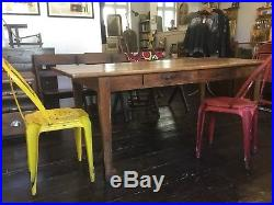 Antique Provincial French Farmhouse Pine Dining Refectory 6 Foot Long Table