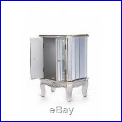 Antique Silver French Mirrored Glass Sideboard Cabinet Annabelle (ven013)