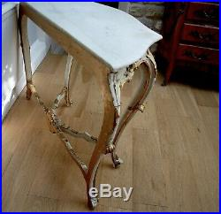 Antique Style French Gilt Console Table Louis XVI Rococo