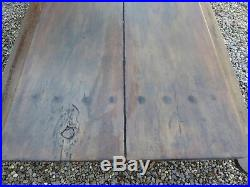 Antique Two Plank French Refectory Tressle Kitchen Country Table 238cm Long