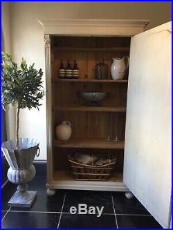 Antique Vintage Painted Shelves Continental French Cabinet Wardrobe Shabby Chic