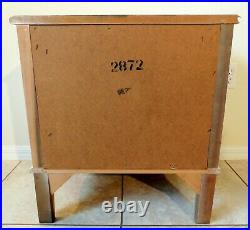 Antique/Vtg French Provincial Gold White Wood 2 Drawer Nightstand Side/End Table