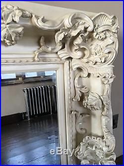 Antique White Cream 6ft X 3ft Ornate Shabby Chic French Leaner Dress Wall Mirror