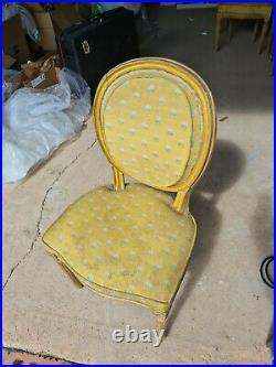 Antique french dining chairs, 6 Louis XVI style Chairs
