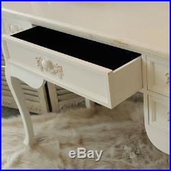 Antique white ornate dressing table desk shabby french chic bedroom furniture