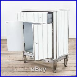 Argente Mirrored Venetian Sideboard Cabinet Furniture French Vintage Silver