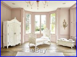 Available April Luxury exclusive French Rococo white hand carved cot bed