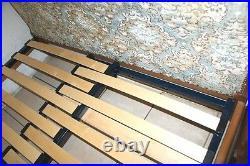 BED BASE 4 French Upholstered Double Antique BEDS Width Adjustable Slatted