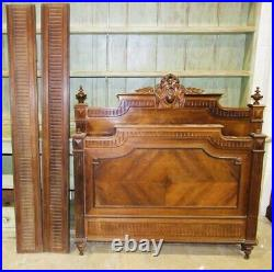 Beauitful Antique 20th Century Walnut Bed Frame