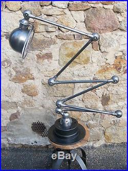 Beautiful 6 arms Jielde Lamp 1950 Vintage 100% Original French Industrial