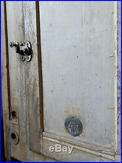 Beautiful Antique French Farmhouse Glaciere Cupboard with Original Chippy Paint