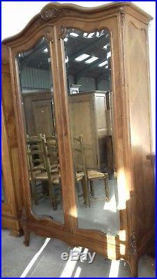 Beautiful Classy French Antique Mirror Door Armoire/ Wardrobe