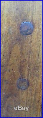 Beautiful Fruitwood Antique Handmade Ancient French Armoire Huge Iron Key