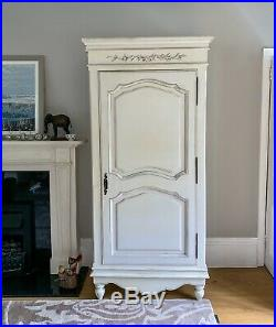 Beautiful Large French Cupboard. Cream / Antique White. Shabby Chic