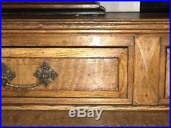 Beautiful Mid C19th Large French Pollard Oak Writing Desk/Dressing Table