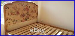 Beautiful Vintage Antique French Double Bed Frame 1952 with slats