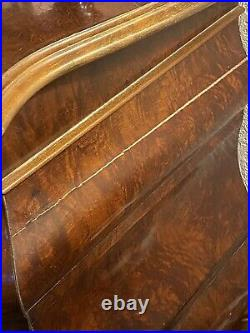 Beautiful Vintage French Walnut Bombe Chest Of 3 Drawers