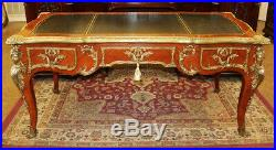 Best French Louis XV Figural Bronze Writing Desk Bureau Plat Table French WOW