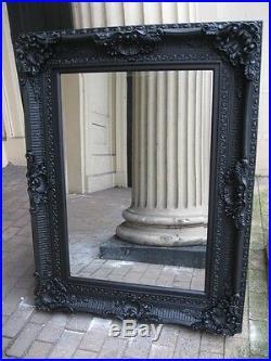 Black Boudoir Large French Ornate Big Statement Leaner Dress Floor Mirror 6ft