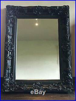 Black Large French Leaner Dress Ornate Wall Floor Statement Tall Mirror 188cm
