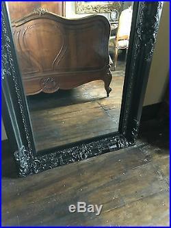 Black Ornate Boudoir Statement Large French Wall Dress Leaner Floor Mirror 6ft