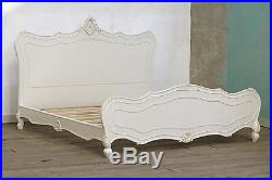 Boudoir Provence Antique White French Rococo Super Kingsize Bed Bedroom