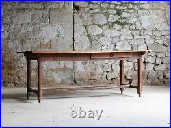 Cherry & Oak Farmhouse Table, French 19th Century
