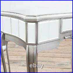Clearance Antique Silver French Mirrored Glass Hall Side Console Dressing Table
