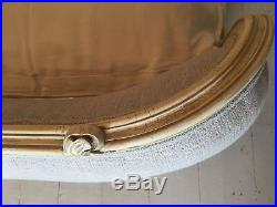 EX LONG ANTIQUE FRENCH CORBEILLE BED 180cm SUPER KING BED OYSTER LINEN VINTAGE