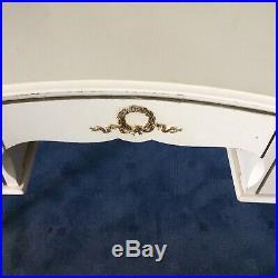 FRENCH Louis Style Dressing Table Shabby Chic CREAM GOLD JARMAN PLATT KIDNEY