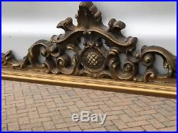 Fantastic French Gilt Overmantle Mirror Stunning Huge Piece